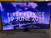 """Samsung 48"""" curved UE48JS8500 smart TV"""