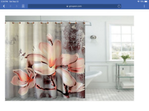 New shower curtain with hooks