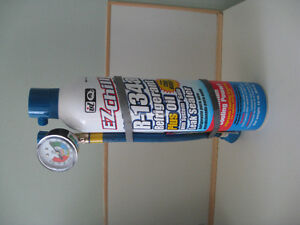 Air conditioning testing and refill kit