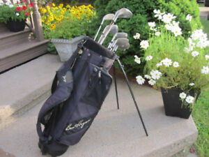 Men's Right Hand 12-pc Golf Clubs Set (Mongoose) & Golf Bag