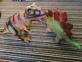 Soft plastic Dinosaurs