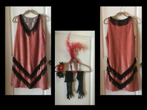 5-PIECE FLAPPER COSTUME - worn once