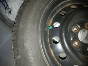 """Full set of 15"""" BF Goodrich winter tires and rims"""