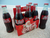 1999 Christmas Edition Coca-Cola Classic 6 Bottle Pack-Unopened