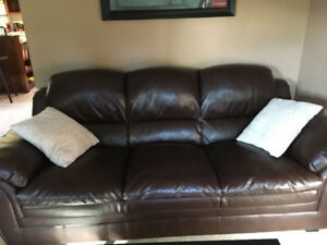 Leather Couch with minor wear. Want gone ASAP