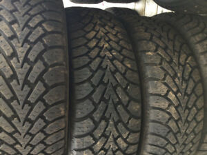 Selling 4 205/55/16 Goodyear directional snow tires and rims