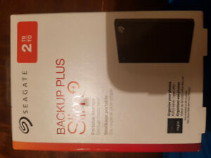 Brand new external hard drive seagate 2 tb