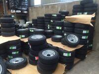 Trailer parts wheels tyres brakes ifor Williams nugent Hudson Dale Kane