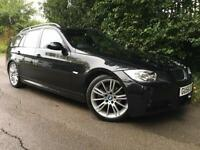 2006 BMW 325i 2.5 auto M Sport Touring/Estate, Black, Cream Leather, MOT 7/17