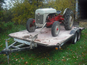 8n ford tractor, blade, trailer Kitchener / Waterloo Kitchener Area image 3