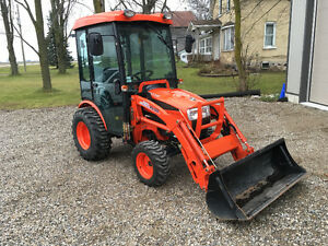Compact Tractor with snow blower
