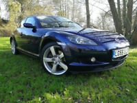 55 REG Mazda RX-8 1.3 ( 228bhp ) FULL/SH 77K FULL LEATHER NEW MOT HPI CLEAR