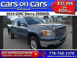2014 GMC Sierra 3500HD w/Leather, BlueTooth, USB Connect $259B/W