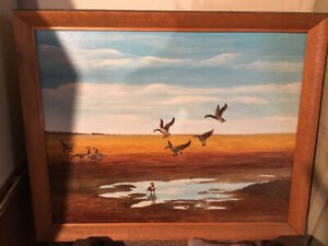 Original Elmer Briand (Well known Cape Breton fiddler) painting