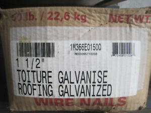 """2 boxes of 50 lb 1 & 1/2"""" Galvanized roofing nails"""