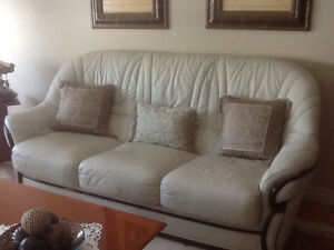 Beautiful leather couch and matching love seat