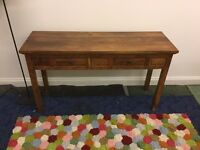 Real Oak Console Table For Sale