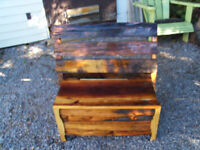 DEACON'S BENCH  RE-PURPOSED WOOD