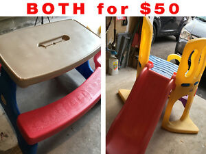 Little Tikes Slide AND Picnic Table - $50