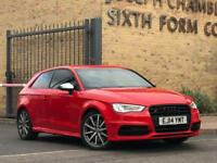2014/14 AUDI S3 3DR S TRONIC 2.0TFSI MISANO RED+SS SEATS CAT D REPAIRED