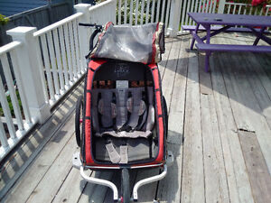 Chariot CX2 stroller for 2 kids, jogger kit and regular wheels