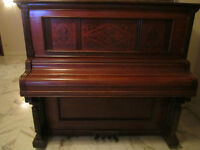 A Weser Bros New York Cabinet Grand Piano