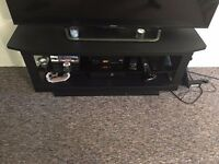 Tv cabinet stand for sale black Urgent sale required due to space issue For up to 55