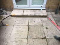 30 concrete paving slabs