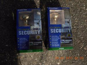 Brass passage door handles
