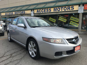 2004 ACURA TSX CLEAN CARPROOF, BLACK LEATHER 04 TSX