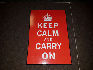 "Keep Calm & Carry On Sign 11"" x 16"""