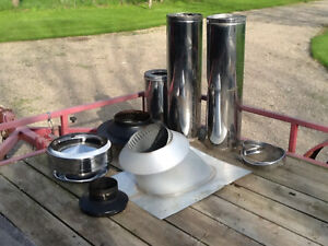 "6"" stove pipe, stainless, insulated  - complete package"