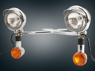 Passing Light Bar Turn Signals For Kawasaki VN Vulcan Classic Drifter 800 Motor