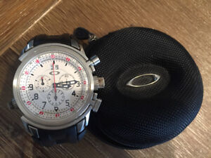 Oakley Men's 12 Gauge Charonograph Watch With rubber sports band
