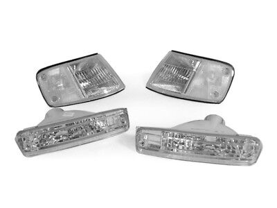 DEPO USA Spec CLEAR Corner + Bumper Signal Lights For 88-89 Honda CRX / CR-X