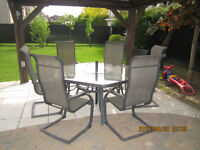 table octagonal 6 chaise