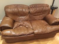 Free - Brown Leather Sofa