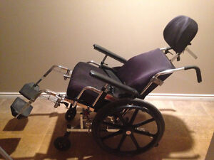 Reclining Wheelchair with head and foot rests Peterborough Peterborough Area image 3