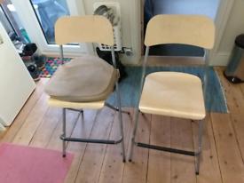 IKEA foldable bar stools