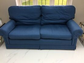 Wesley Barrell Spelsbury 3 seater sofa, blue fabric