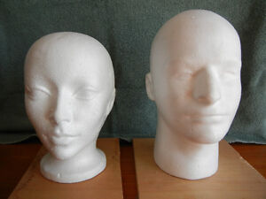 STYROFOAM HEADS USED