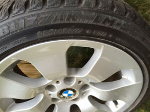 BMW Winter Tires (4 with rims) 225-45-R17 (great condition) London Ontario image 1