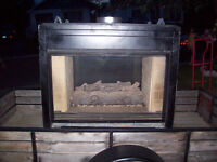 GAS FIREPLACE - SEE THROUGH