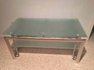 SOLID TV TABLE with tempered glass