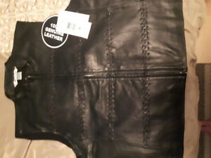 LEATHER SKIRT AND VEST