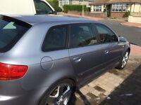 Audi A3 S Line Sportback 2.0L petrol.