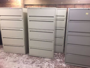 9 MINT Steelcase 5 Drawer Lateral Filing Cabinet Delvry Incld