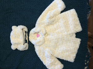 Beautiful baby jacket and hat