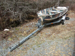 14 foot aluminum boat with steel trailer