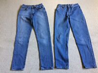 Vintage rigid denim designer jeans
